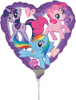 "Mini-Folienballon ""My little Pony""-Herz"