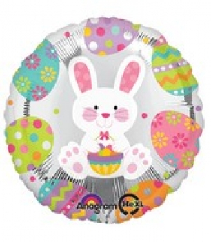 "Folienballon ""Osterhase metallic"""