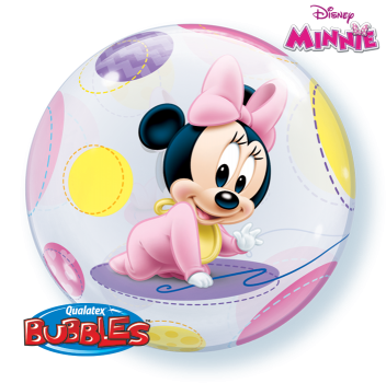 "Bubble-Ballon  ""Baby Minnie"" (heliumgefüllt)"