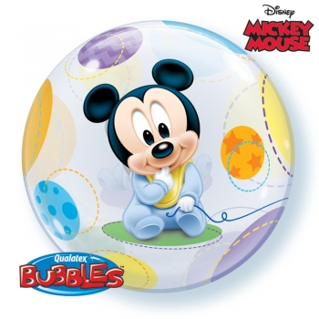 "Bubble-Ballon  ""Baby Mickey"" (heliumgefüllt)"
