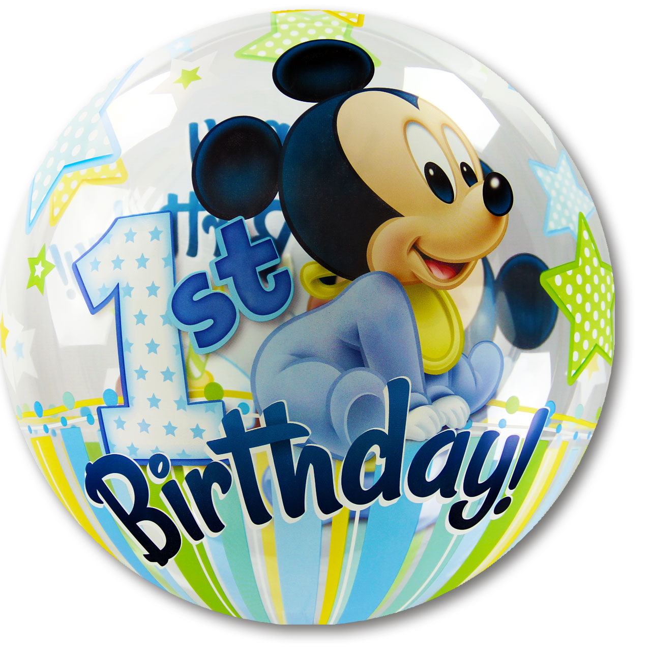 Gabis ballonerie bubble ballon mickey mouse 1 for Deko 1 geburtstag junge