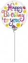 "Mini-Folienballon ""Happy Birthday"", rund"