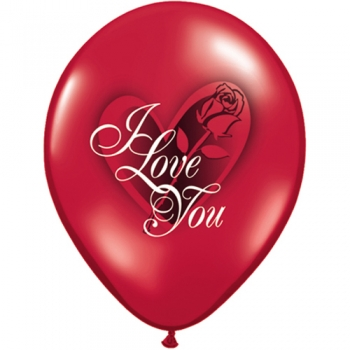 "Latexballons - 6 Stck. ""I love you"""